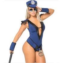 Fantasia Erótica Policial Anne Sexy Adulto Sensual Feminina