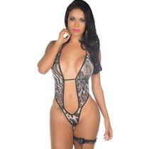 Sexshop - Kit Fantasia Body De Oncinha + Produtos Sensuais