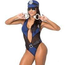 Fantasia Erótica Policial Elen Sexy Adulto Sensual Feminina