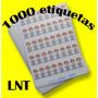 1000 Etiquetas 5,5x2,5 Personalizadas Para Roupas Artesanato