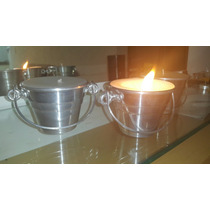 Velas Grandes Artesanais Perfumadas Em Baldinho De Alumínio