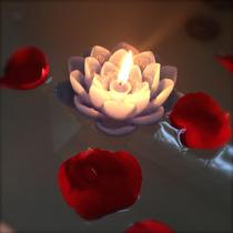 Velas Flutuantes Flor De Lotus - Pacote C/ 10 Und