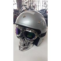 Farol Cranio Caveira Motos Chopper Triciclos (frete Gratis)