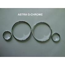 Kit Aros Cromado Painel Astra / Zafira - Anel - Aro - Jogo