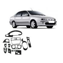 Kit Aplique Painel Fibra De Carbono Fiat Marea Painelkit