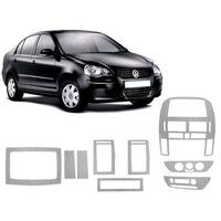 Kit Painel Aço Escovado Painelkit Vw Polo 03/ Sedan Ou Hatch