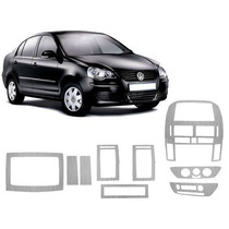 Kit Painel Aço Escovado Painelkit Vw Polo 03/ Sedan Ou Hatch