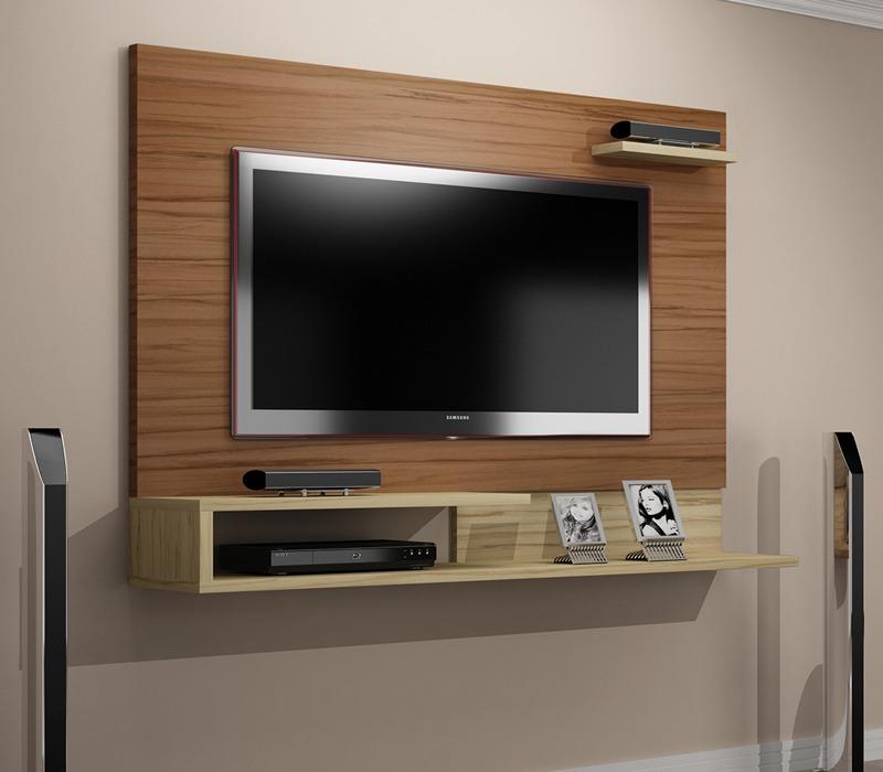 Sala Com Tv Led Na Parede ~  estante para sala rack painel Car  Salas Com Televisao Na Parede