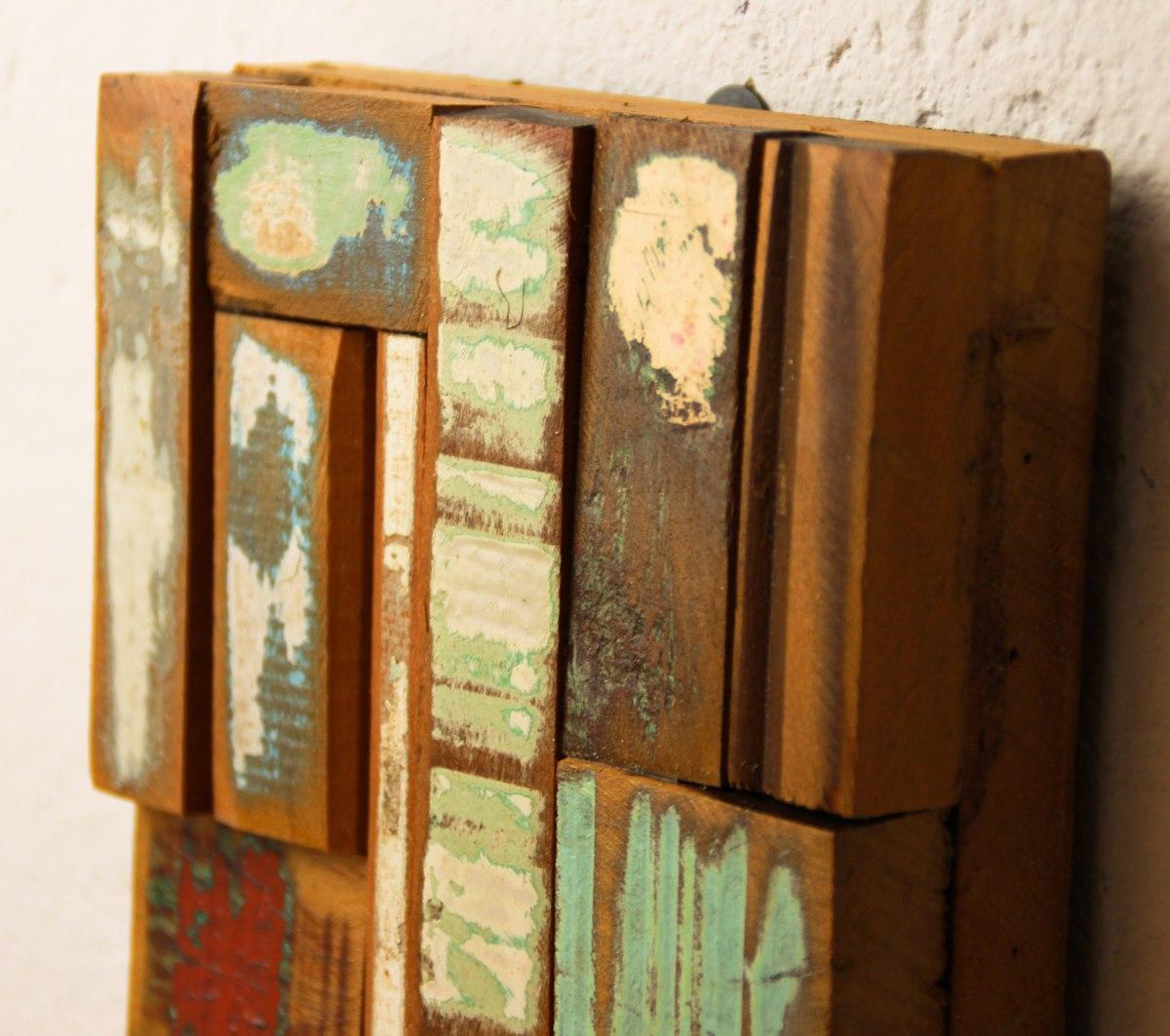Painel Em Madeira De Demolição Pedacinhos De Madeira Maciça R$  #361B09 1200x1063