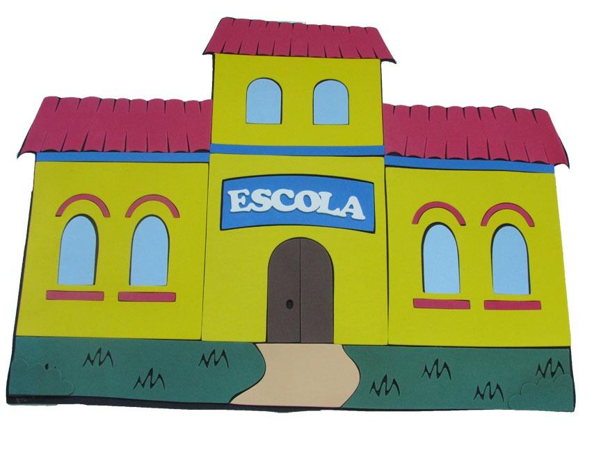 Painel Escola Em Eva  R$ 19,89 no MercadoLivre -> Decoracao Para Banheiro De Escola Em Eva