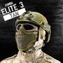 Combo Elite 3 - Tan (capacete + Balaclava + Meia Máscara +