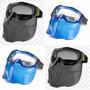 4 Kit Máscara + Óculos Destacável Airsoft Policarbonato Mult