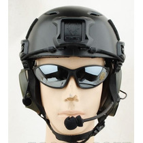 Capacete Tatico Fast Jump Swat Airsoft Paintball Preto