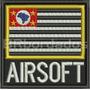 Eml059 Bandeira Sp Airsoft 9x9cm Paintball Tag Patch Bordado