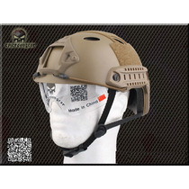 Capacete Tatico Com Goggles Fast Jump Airsoft Paintball