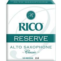 Palheta Reserve Classic Alto Sax 2 Rico Rjr1020 C/ 10