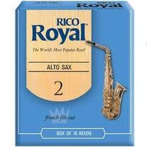 Palhetas Rico Royal P/ Sax Alto Nº 2,0 (cx C/ 10)