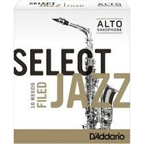 Palhetas Rico Select Jazz P/ Sax Alto Nº 2 Soft (cx C/ 10)
