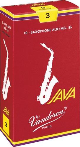 Palhetas Vandoren Java Red Cut Sax Alto Nº 2