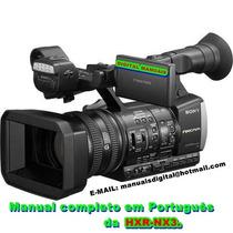 Manual Completo Em Português Da Filmadora Sony Hxr-nx3.