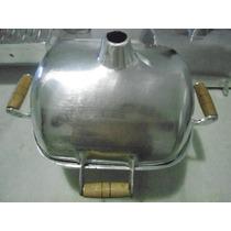 Churrasqueira Em Aluminio Fundido Tipo Bafo Pequena