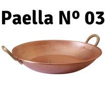 Paella De Cobre Artesanal Martelado 03 R & A Metai