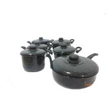 Jogo De Panelas Aço Porcelanato 06 Peças