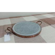 Grelha De Carne De Pedra Sabão 28 Cm.