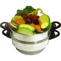 Panela De Cozimento À Vapor Peixes, Frutos Do Mar E Legumes