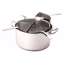 Espagueteira 4 Divisões Inox Cozinha Gourmet Hercules Pa120
