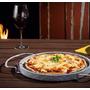 Pedra Sabão Para Pizza + Suporte Aço Cromado
