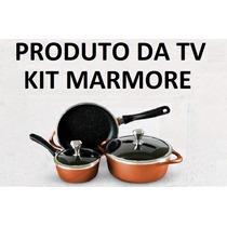 Conjunto Panelas Marmore Sucesso Mundial Produto Tv Gazeta
