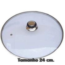 Tampas Para Frigideiras E Panelas De Vidro Temperado 24 Cm