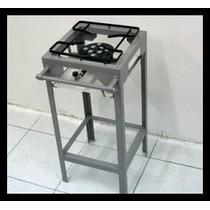 Fogão Gda Industrial 1 Boca Alto Com Pé Alto 8 Caulim Luxo