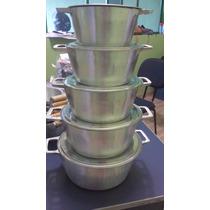 Jogo De Panelas Alumínio Batido Fundido - Alça De Aluminio