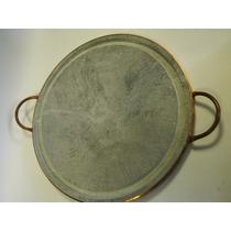 Grelha Para Carnes Em Pedra Sabão M 30cm
