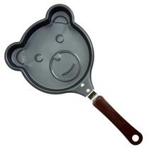 Frigideira Pequena Formato Ursinho Cozinha Ovos E Panquecas