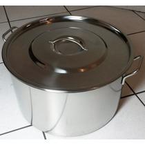 Panela Caldeirão De Aço Inox 21 Lts- Industrial Hotel Buffet