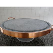 Kit Fondue Em Pedra-sabão *** Fogareiro + Pedra P/ Carne