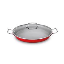 Panela Para Paella Cuisinart Em Aço Inox Vermelho 38cm