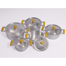 Jogo 5 Panelas Polido Aluminio Batido 16 A 24 Pronta Entrega