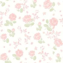 Papel Parede - Flores Rosa - Bobinex - (10 Metros X 52cm)