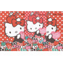 Kit De Papel De Carta Hello Kitty Maçã E Morango 2 Modelos