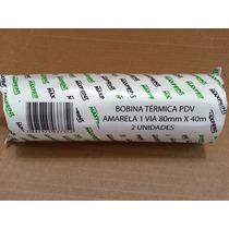 02 Bobina Térmica Pdv 1 Via 80mm X 40m Maxprint