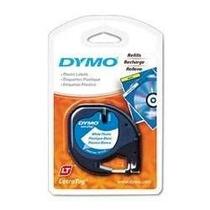Fita Branca Plástica 91331 Rotulador Etiqueta Letratag Dymo