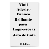 Vinil Adesivo A4 Branco Brilhante Jato De Tinta