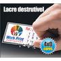 1.000 Lacres De Garantia 3x1cm Casca De Ovo / Destrutivel