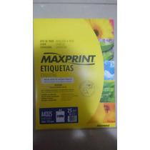 Etiqueta Cd / Dvd-a4- Maxprint - A4cd25