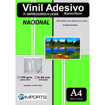 Adesivos Vinil Branco A4 Impressora Laser Frete Grátis