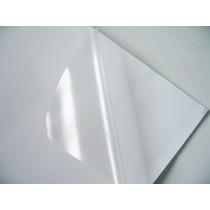 100 Adesivos Vinil Transparentes A4 Para Impressora A Laser